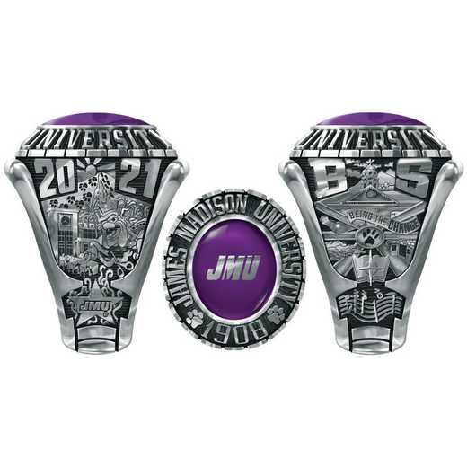James Madison University Class Of 2021 Men's 876L Traditional with Square Stone
