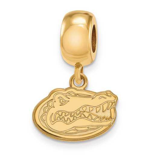 GP035UFL: SS Logoart Univ Of Florida Xs Dangle Reflection Beads Charm
