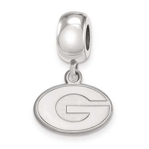 SS035UGA: SS Rh-P Logoart Univ Of Georgia Xs Reflection Beads Charm