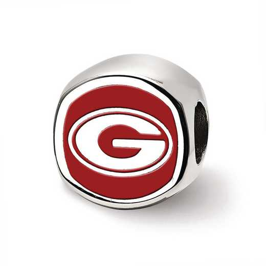 SS501UGA: SS Logoart U Of Georgia Cushion Shaped Logo Reflection Beads
