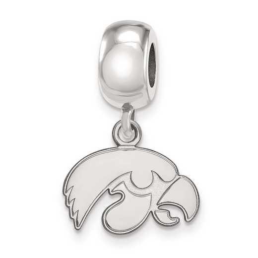 SS035UIA: SS Rh-P Logoart Univ Of Iowa Xs Reflection Beads Charm