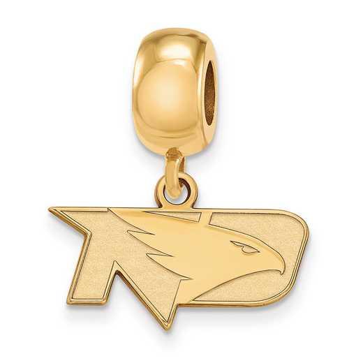 GP013UNOD: SS W/GP Logoart Univ Of North Dakota Reflection Beads Char
