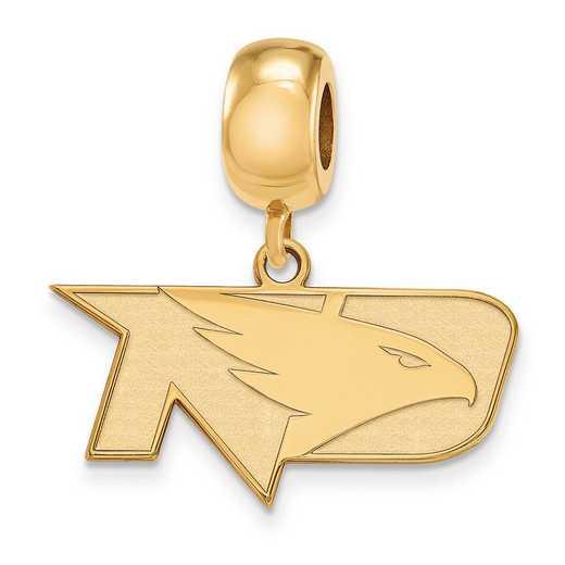 GP014UNOD: SS W/GP Logoart Univ Of North Dakota Small Reflection Beads