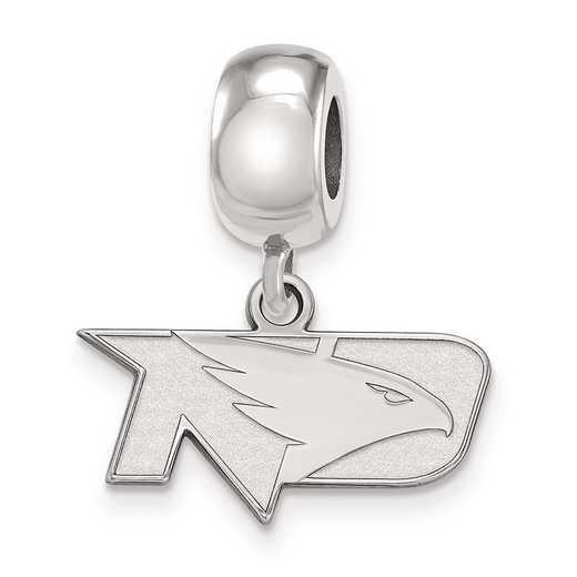 SS013UNOD: SS Rh-P Logoart Univ Of North Dakota Reflection Beads Charm