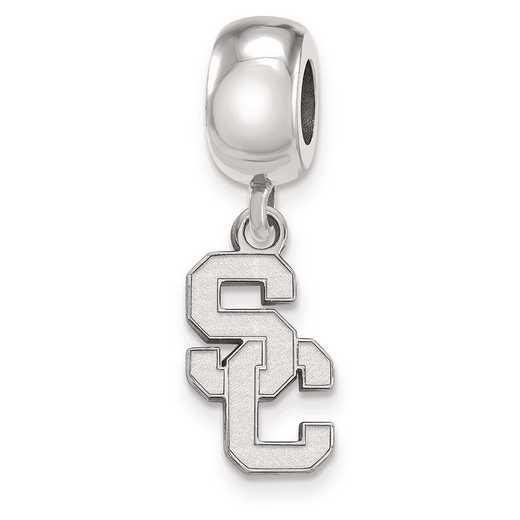 SS020USC: SS U Of Southern California Reflection Beads Charm Small