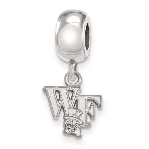 SS053WFU: SS Rh-P Logoart Wake Forest Univ Xs Reflection Beads Charm