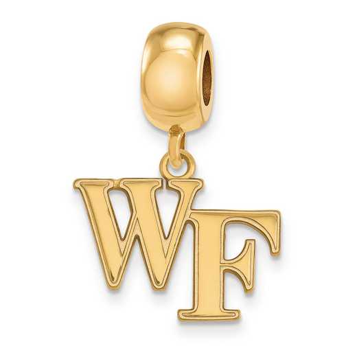 GP030WFU: SS W/GP Logoart Wake Forest Univ Small Reflection Beads