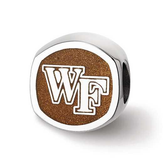"SS501WFU: SS Wake Forest U ""Wf"" Primary Cushion Logo Reflection Beads"
