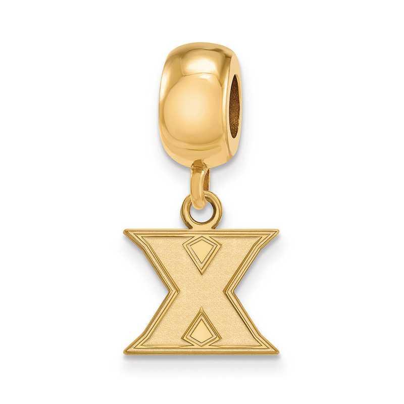 GP011XU: SS Gp Logo Art Xavier Univ Reflection Beads Charm Xs Dangle