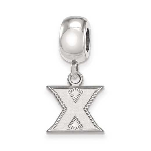 SS011XU: SS Rh-Plat Logo Art Xavier Univ Reflection Beads Charm Xs