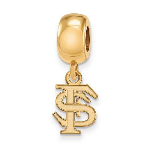 GP035FSU: SS W/GP Logoart Florida State Univ Reflection Beads Charm