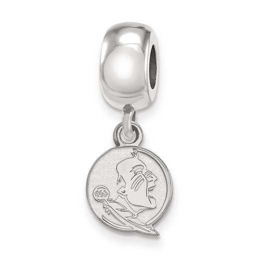 SS056FSU: SS Rh-P Logoart Florida State Univ Reflection Beads Charm