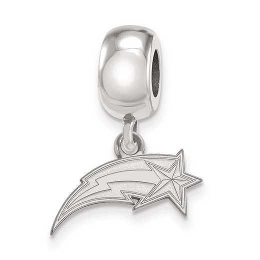 SS012GMU: SS Rh-P Logoart George Mason Univ Xs Reflection Beads Charm