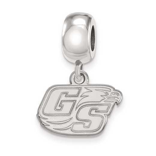 SS013GSU: SS Rh-P Logoart Georgia Southern U Xs Reflection Beads Charm