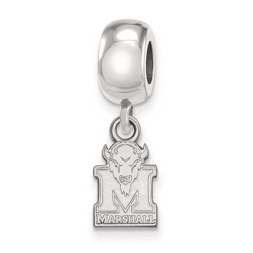 SS035MAU: SS Rh-P Logoart Marshall Univ Xs Reflection Beads Charm