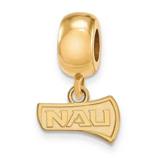 GP013NAU: SS Gp Logoart Nern Arizona U Reflection Beads Charm Xs Dangl