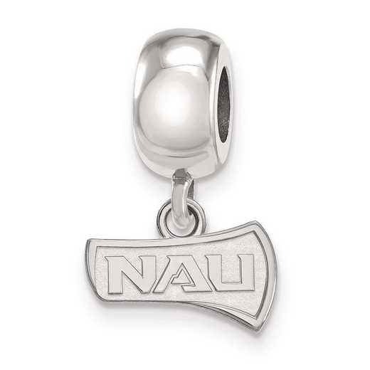 SS013NAU: SS Rh-P Logoart Northern Arizona Univ Charm Reflection Beads