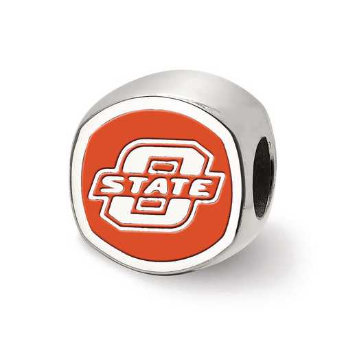SS501OKS: SS Logoart Oklahoma St. U Cushion Logo Reflection Beads
