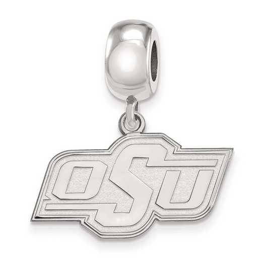 SS035OKS: SS Rh-P Logoart Oklahoma State Univ Small Reflection Beads