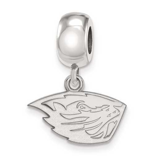 SS022ORS: SS Rh-Plat Oregon State Univ Reflection Beads Charm Xs