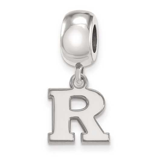 SS018RUT: SS Rh-P Logoart Rutgers Xs Dangle Reflection Beads Charm