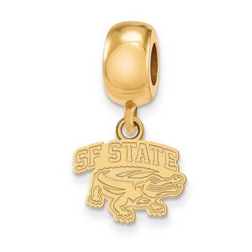 GP009SFU: SS Gp Logoart San Francisco St. U Reflection Beads Charm