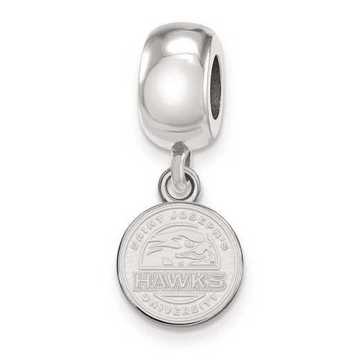 SS008SJO: SS Rh-P Logoart Saint Joseph'S Univ Charm Reflection Beads