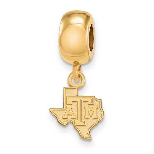 GP052TAM: SS W/GP Logoart Texas A&M Univ Xs Reflection Beads Charm