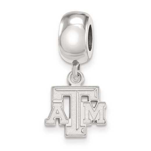 SS029TAM: SS Rh-P Logoart Texas A&M Univ Xs Reflection Beads Charm