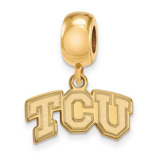 GP014TCU: SS W/GP Logoart Texas Christian Univ Reflection Beads Char