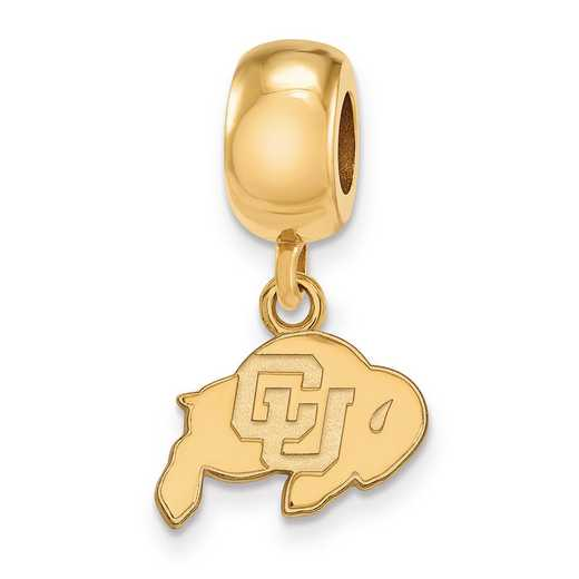 GP022UCO: SS W/GP Logoart Univ Of Colorado Xs Reflection Beads Charm