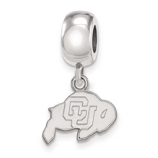 SS022UCO: SS Rh-P Logoart Univ Of Colorado Xs Reflection Beads Charm