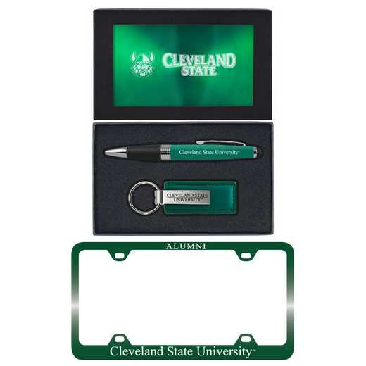 SET-A3-CLEVLAND-GRN: LXG Set A3 pen KC Tag, Cleveland State