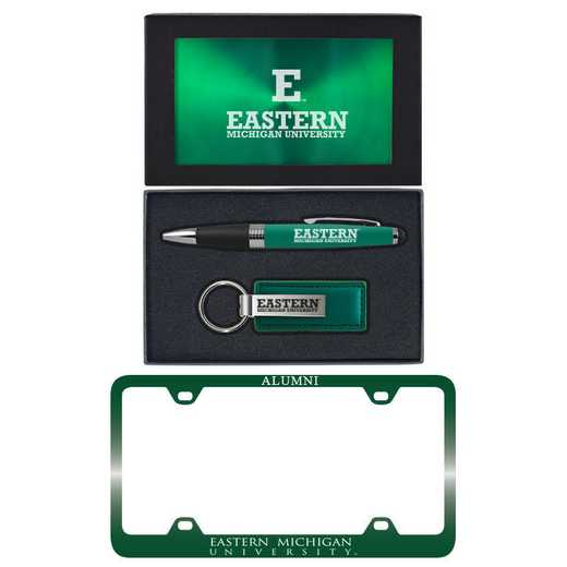 SET-A3-EASTMICH-GRN: LXG Set A3 pen KC Tag, Eastern Michigan