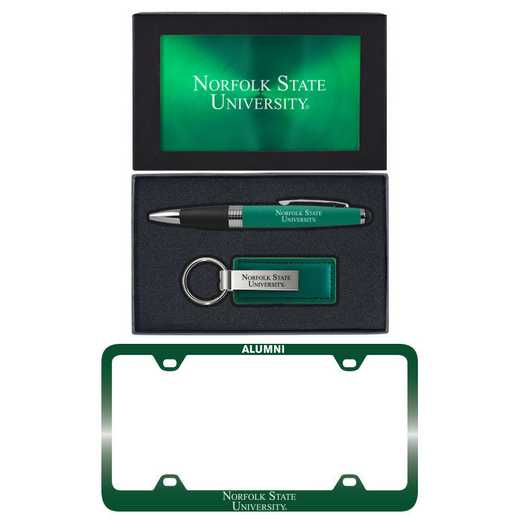 SET-A3-NORFOLK-GRN: LXG Set A3 pen KC Tag, Norfolk State