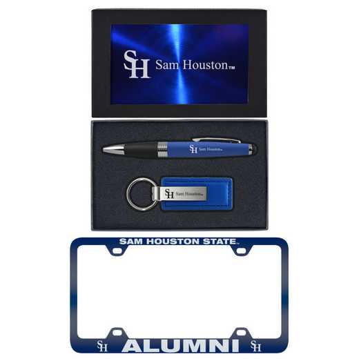 SET-A3-SAMHOUSTN-BLU: LXG Set A3 pen KC Tag, Sam Houston State