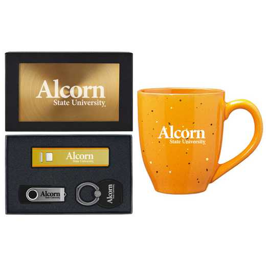 SET-A2-ALCORN-GLD: LXG Set A2 Tech Mug, Alcorn State