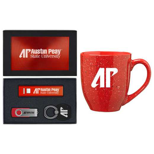 SET-A2-AUSPEAY-RED: LXG Set A2 Tech Mug, Austin Peay