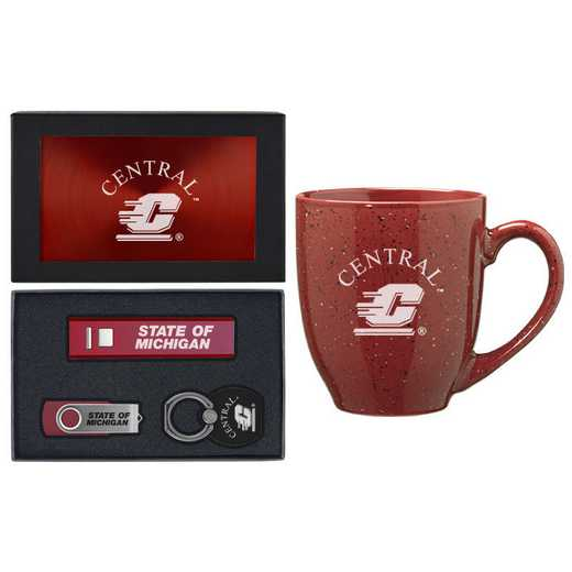 SET-A2-CMU-BUR: LXG Set A2 Tech Mug, Central Michigan