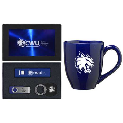 SET-A2-CWU-BLU: LXG Set A2 Tech Mug, Central Washington