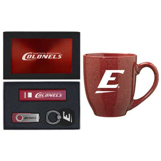 SET-A2-EKU-BUR: LXG Set A2 Tech Mug, Eastern Kentucky
