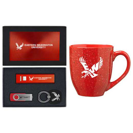SET-A2-EWU-RED: LXG Set A2 Tech Mug, Eastern Washington