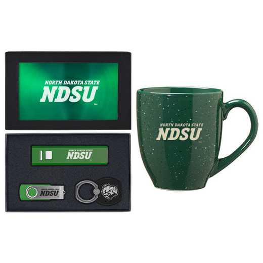 SET-A2-NDKTAST-GRN: LXG Set A2 Tech Mug, North Dakota State