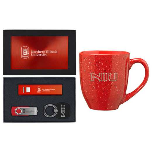 SET-A2-NRTHIL-RED: LXG Set A2 Tech Mug, Northern Illinois