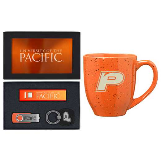 SET-A2-PACIFIC-ORN: LXG Set A2 Tech Mug, University of the Pacific