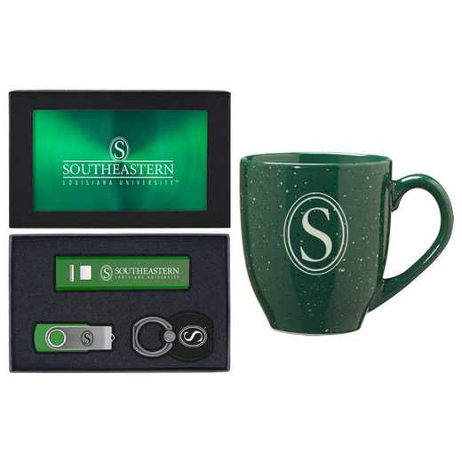 SET-A2-SELOUIS-GRN: LXG Set A2 Tech Mug, Southeastern Louisiana
