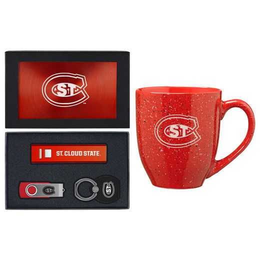 SET-A2-STCLDST-RED: LXG Set A2 Tech Mug, St Cloud State