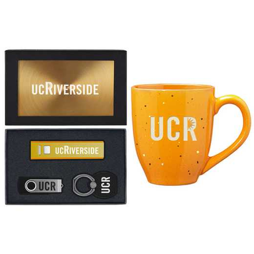 SET-A2-UCRIVER-GLD: LXG Set A2 Tech Mug- California-Riverside