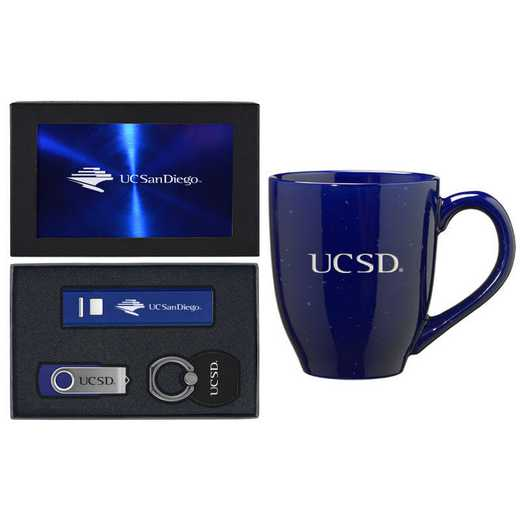 SET-A2-UCSD-BLU: LXG Set A2 Tech Mug- California-San Diego