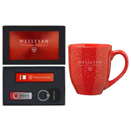 SET-A2-WESLYN-RED: LXG Set A2 Tech Mug, Wesleyan